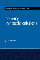 Deriving Syntactic Relations