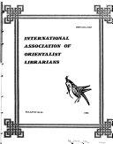 Bulletin   International Association of Orientalist Librarians