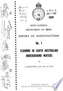 Report of Investigations - Geological Survey of South Australia