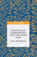 Australia's Communities and the Boer War Pdf/ePub eBook