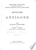 Sophocles Antigone Book