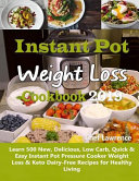 Instant Pot Weight Loss Cookbook 2019 Book