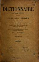 Dictionnaire analogique et étymologique des idiomes méridionaux qui sont parlés depuis Nice jusqu'à Bayonne et depuis les Pyrénées jusqu'au centre de la France