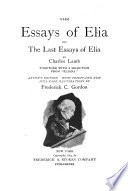 The Essays of Elia and The Last Essays of Elia