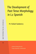 Pdf The Development of Past Tense Morphology in L2 Spanish Telecharger