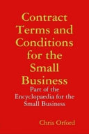 Contract Terms and Conditions for the Small Business