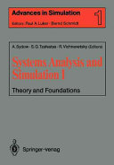 Systems Analysis and Simulation: Theory and foundations