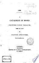 1819. A catalogue of books now selling