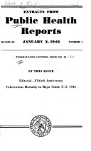 Extracts from Public Health Reports. Tuberculosis Control Issue