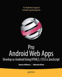 Cover of Pro Android Web Apps