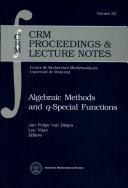 Algebraic Methods and Q-special Functions [Pdf/ePub] eBook