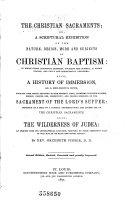 The Christian Sacraments