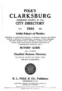 Polk's Clarksburg (Harrison County, W.Va.) City Directory