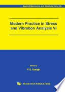 Modern Practice In Stress And Vibration Analysis Vi Book PDF