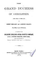 The Grand Duchess of Gerolstein