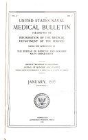 United States Naval Medical Bulletin V 9 1915