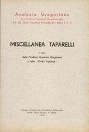 Pdf Miscellanea Taparelli Telecharger