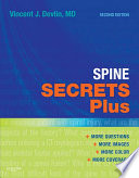 """Spine Secrets Plus E-Book"" by Vincent J. Devlin"