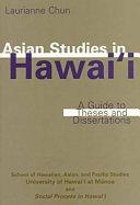 Asian Studies in Hawai  i Book