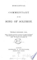 Homiletical Commentary On The Song Of Solomon PDF