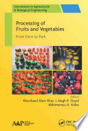 Processing of Fruits and Vegetables