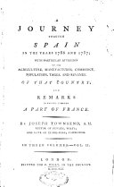 A Journey Through Spain in the Years 1786 and 1787