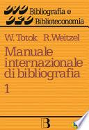 Manuale Internazionale Di Bibliografia