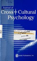 Journal of Cross cultural Psychology Book