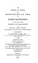 Pdf The method of finding the longitude at sea, by timekeepers: to which are added, Tables of equations to equal altitudes