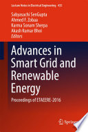 Advances In Smart Grid And Renewable Energy Book PDF