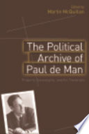 Political Archive Of Paul De Man