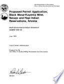 Black Mesa Kayenta Mine  Proposed Permit Application for Operation in Navajo and Hopi Indian Reservations D F  Maps to the Draft EIS