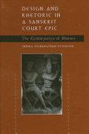 Design and Rhetoric in a Sanskrit Court Epic
