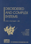 Disordered and Complex Systems