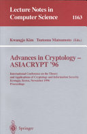 Advances in Cryptology - ASIACRYPT '96: International ...