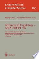 Advances In Cryptology Asiacrypt 96