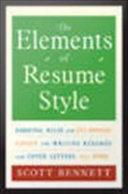 The Elements of Résumé Style