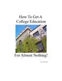 How to Get a College Education for Almost Nothing