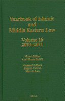 Yearbook Of Islamic And Middle Eastern Law Volume 16 2010 2011
