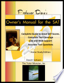 Professor Dave S Owner S Manual For The Sat
