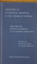 Directory of Statistical Personnel in the American Nations Book PDF