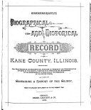 Commemorative Biographical and Historical Record of Kane County  Illinois
