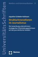 Strukturinnovationen im Journalismus