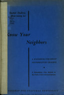 Know Your Neighbors Book