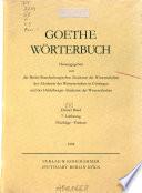 Goethe-Wörterbuch: Einwenden-Gesäusel