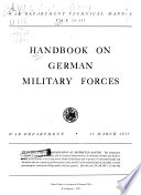 War Department Technical Manual Book