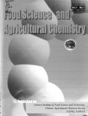 Food Science And Agricultural Chemistry Book PDF
