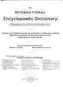 The International Encyclopaedic Dictionary ...