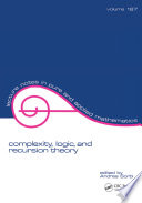 Complexity  Logic  and Recursion Theory