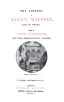 The Letters of Horace Walpole  Earl of Oxford
